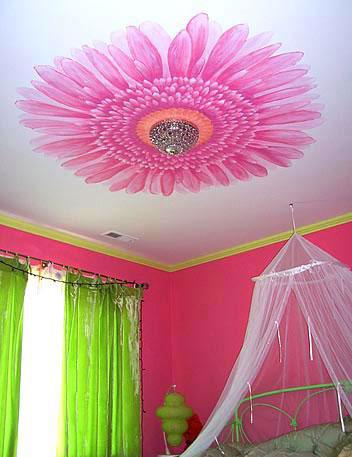 Фото цветы красивые на потолок